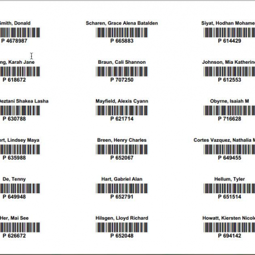 How To Print Individual Barcode Labels For Library Cards Or A Homeroom Barcode Sheet To Use At Checkout Library Library Checkout Barcode Labels