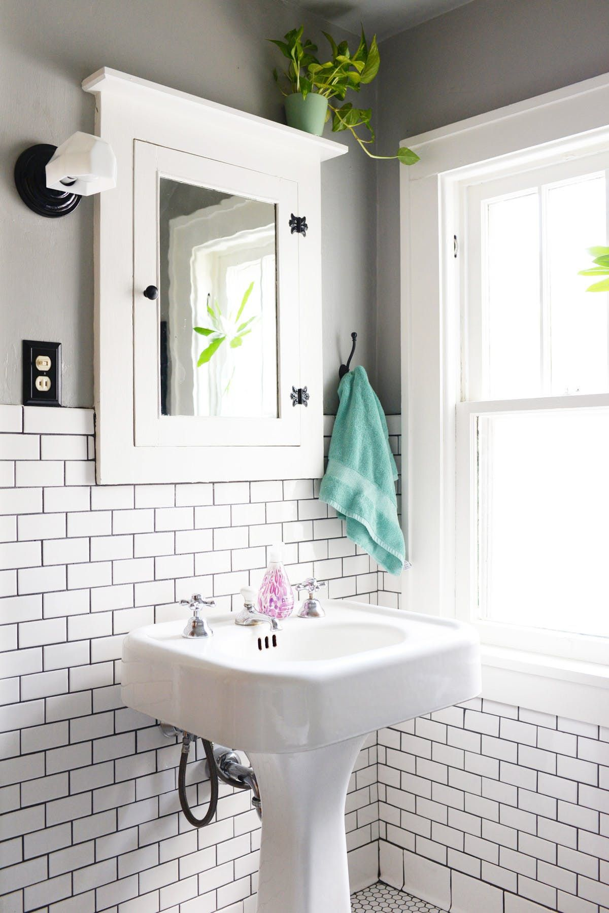 A Craftsman Bathroom Gets a Clean & Classic Remodel | Pinterest ...