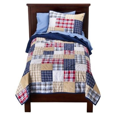 Target - Circo® Boy Plaid Quilt Set   Boys Rooms   Pinterest ... : target quilts sets - Adamdwight.com
