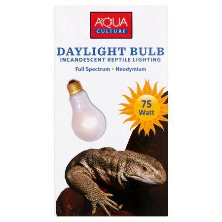 Aqua Culture Daylight Bulb Incandescent Reptile Lighting 75 Watt