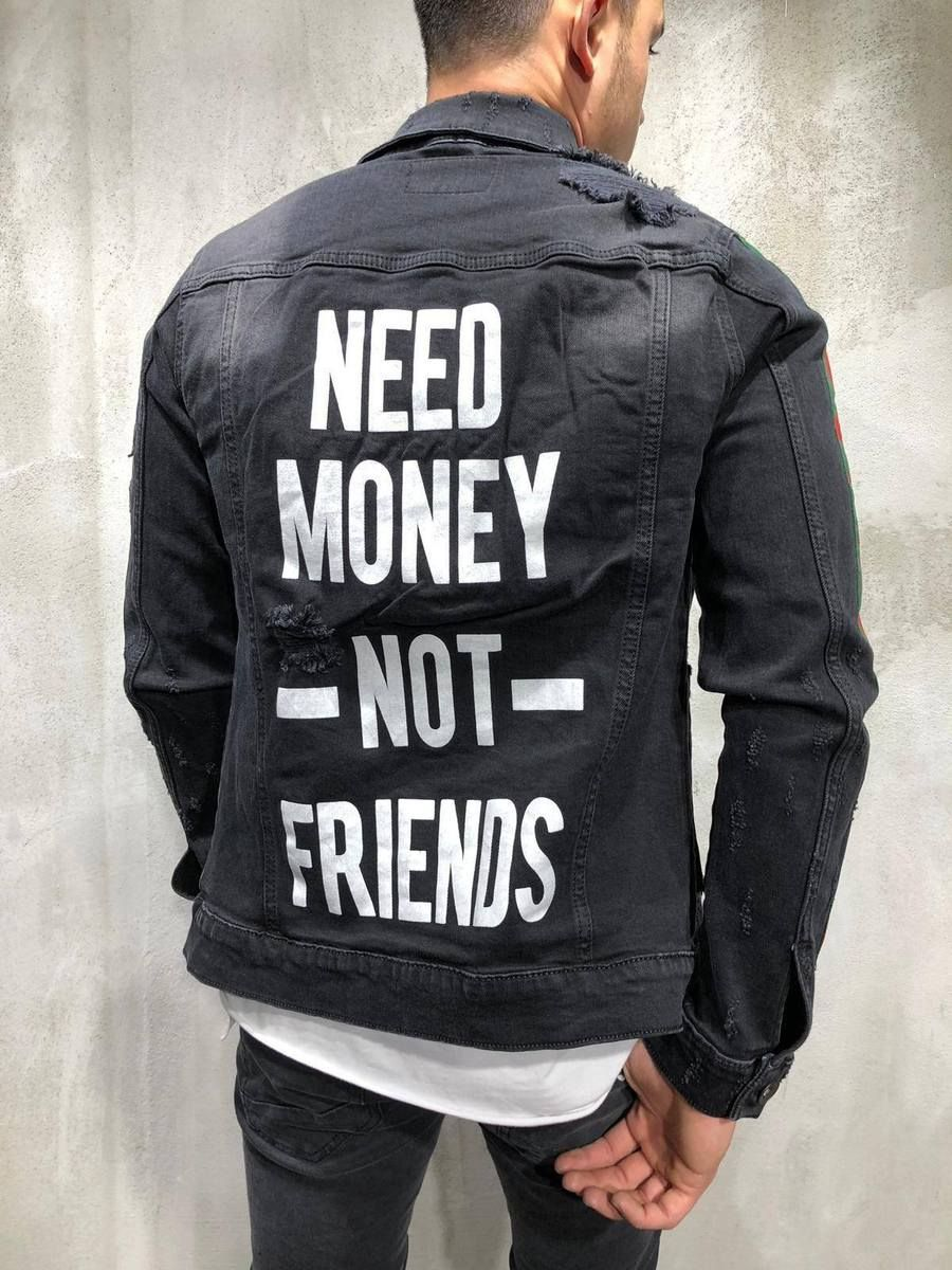 8e97d6c3cfc Denim Jacket Snake Patch Embroidery- Dark in 2019