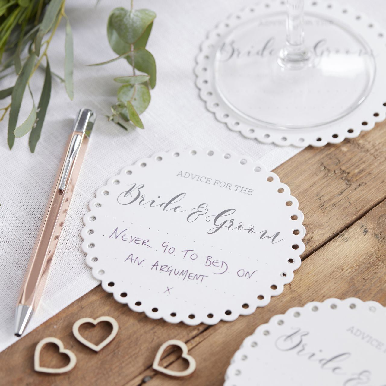 Advice For The Bride & Groom Coasters | Wedding, Party gifts and ...