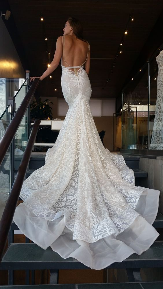 The Way This Bertabridal Gown Falls Is So Figure Flattering