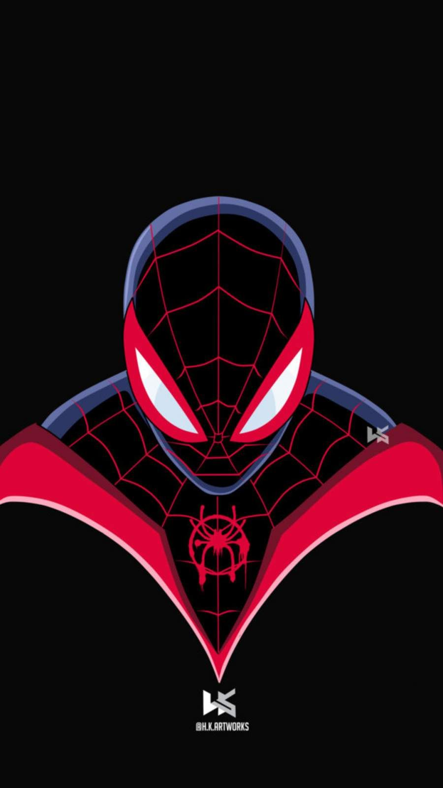 Spiderman Miles Morales Art IPhone Wallpaper in 2020 (With
