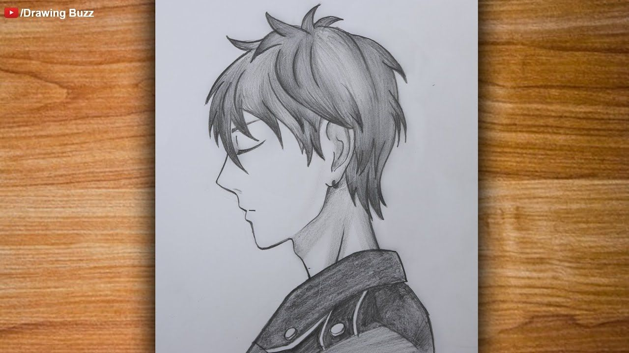 Anime Boy Drawing Tutorial For Beginners By One Pencil How To Draw Ani Drawings Anime Drawings Boy Boy Drawing