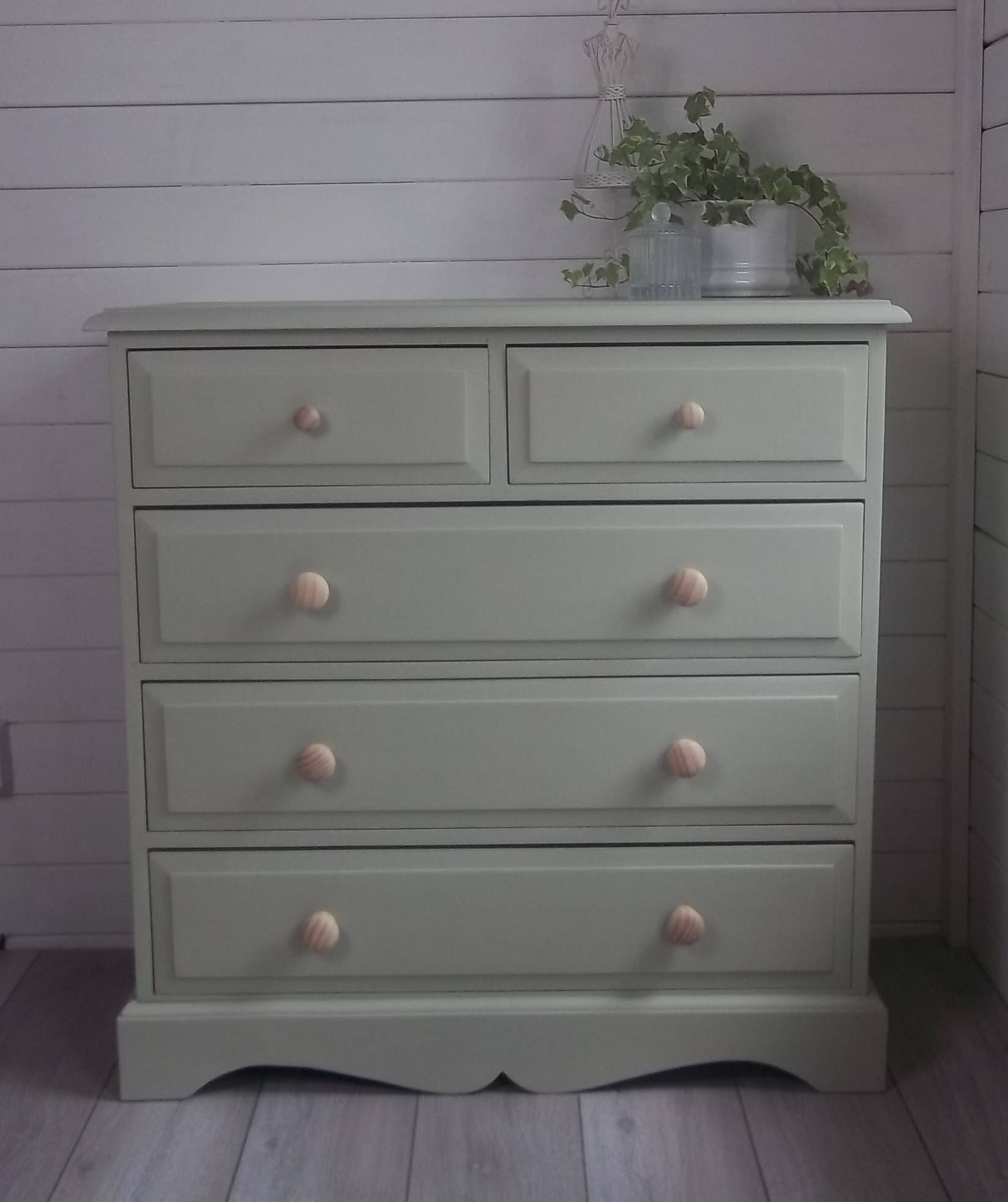 Now Sold Hand Painted Pine Furniture Chest Of Drawers Bedroom Furniture Upcycled Green By Oak Bedroom Furniture Pine Furniture Pine Bedroom Furniture
