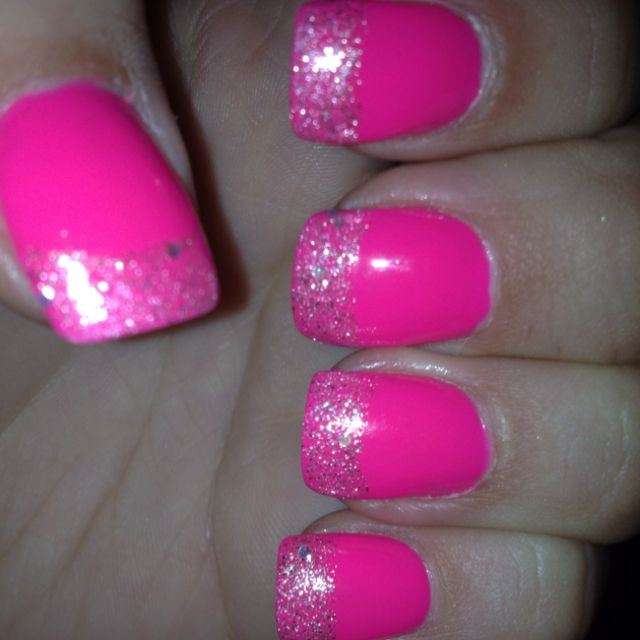 Pin By Audrey Dowling On Beauty Nails Beauty Nails Glitter Tip Nails