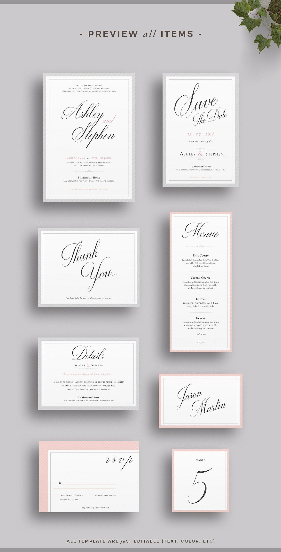 Wedding Invitation Suite | Invitation suite, Grey wedding invitation ...