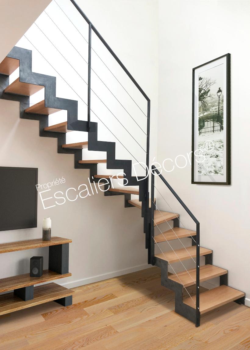 Escalier Droit Ou 1 4 Tournant Contemporain Escaliers Decors