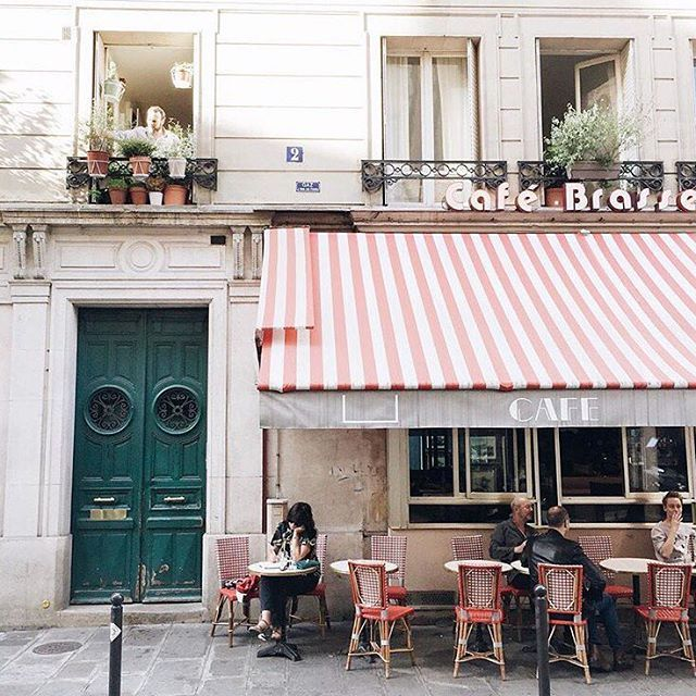 """(2/5) """"Like most metropolitan cities, Paris has been experiencing a wave of new coffee shops and restaurants but the charming old bistros with their surly waiters, the dreamers, the writers... Everything about the old Paris, they are all still here."""" - @jasminetartine #BastilleDay #WhereToFindMe #regram"""