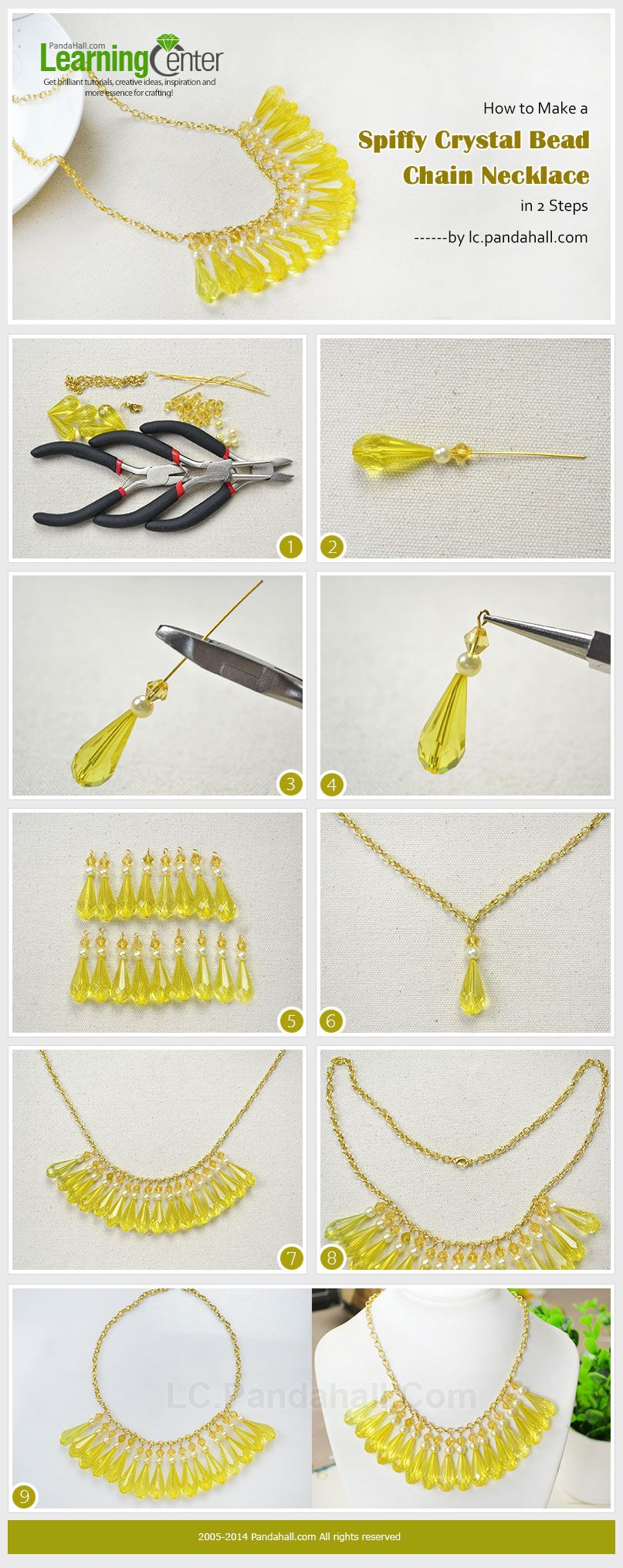 How to Make a Spiffy Crystal Bead Chain Necklace in 2 Steps ...