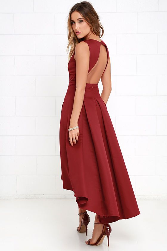 df83308dfab Paso Doble Take Wine Red High-Low Dress at Lulus.com!