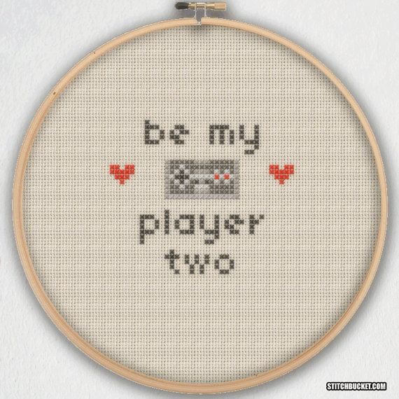 Be My Player Two Cross Stitch Pattern - Instant Download PDF ...