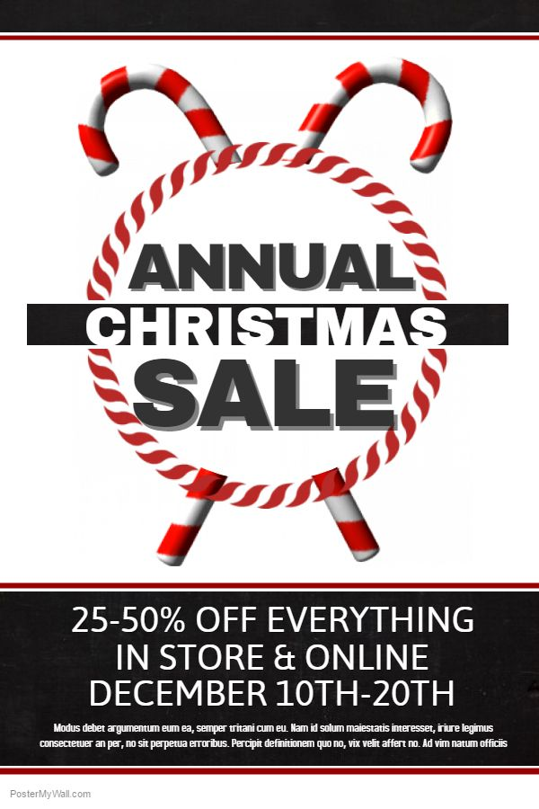 DIY Christmas Retail Sale Poster Template Christmas Retail Poster