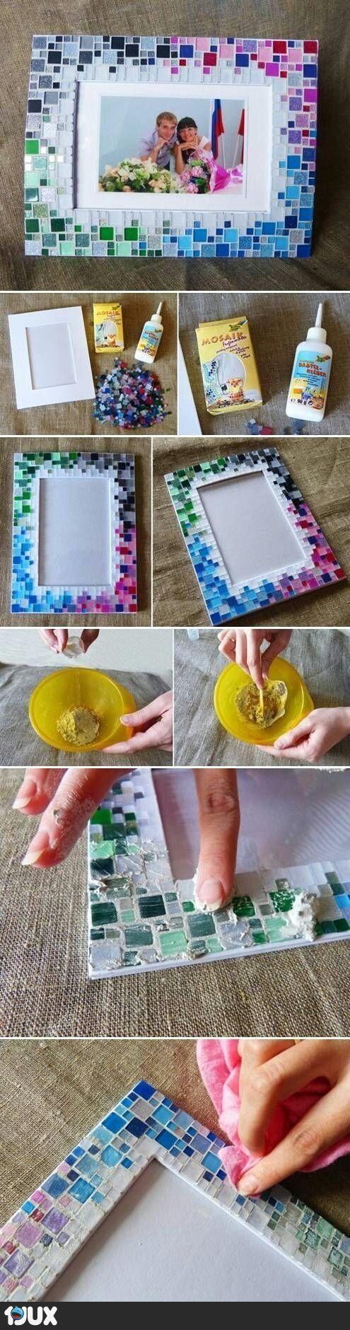 Mosaik Bilderrahmen | Ideen | Pinterest | Bilderrahmen, Mosaik und ...