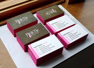Letterpress Business Cards - Pink Tie 2.JPG