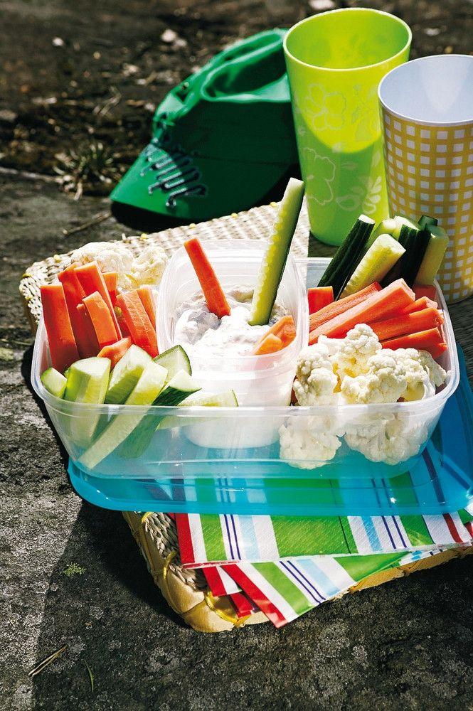 Dippikasvikset ja sinihomejuusto-ananasdippi | K-ruoka