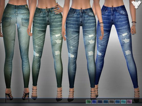 Kiexra | Ripped jeans, Sims 4 clothing, Sims 4