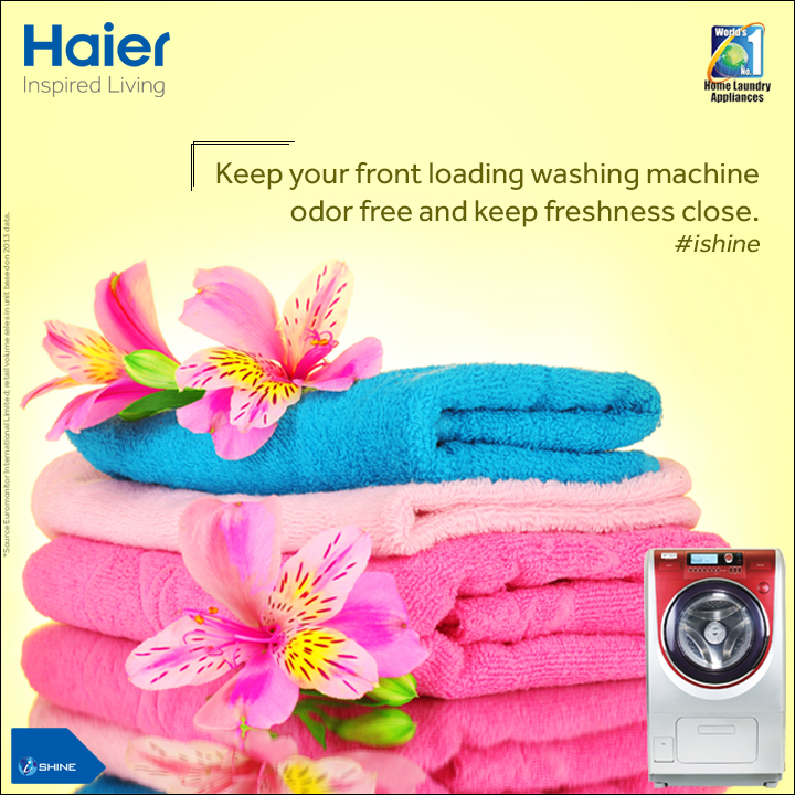 #TipOfTheDay When not in use, leave the door of the washer partly open, to improve air circulation inside the #WashingMachine and to prevent the buildup of mold & mildew. http://bit.ly/HaierWashingMach