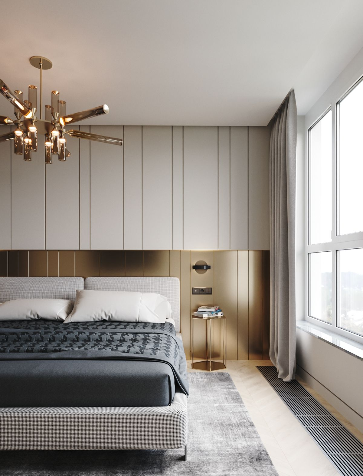 Apartment in onyx colours on behance in 2019 for Hotel home decor
