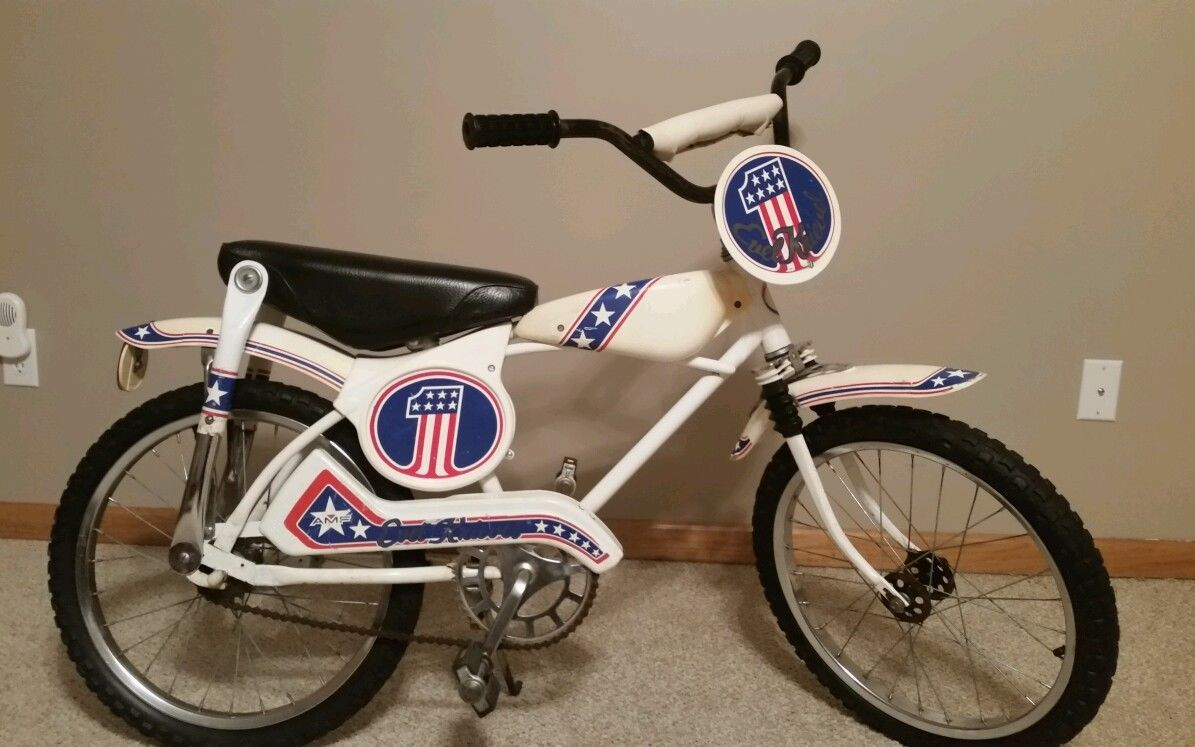 Famous Evel Knievel Bike At Auction: 1976 Vintage Evel Knievel BMX Spirit Of 76 Bike Bicycle
