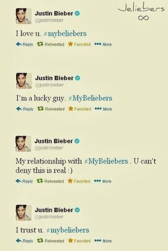 He loves us more then you can imagine ;) Jeliebers is Forever <3 NOBODY can't stop us cause we are UNBREAKABLE <3 !!!!!