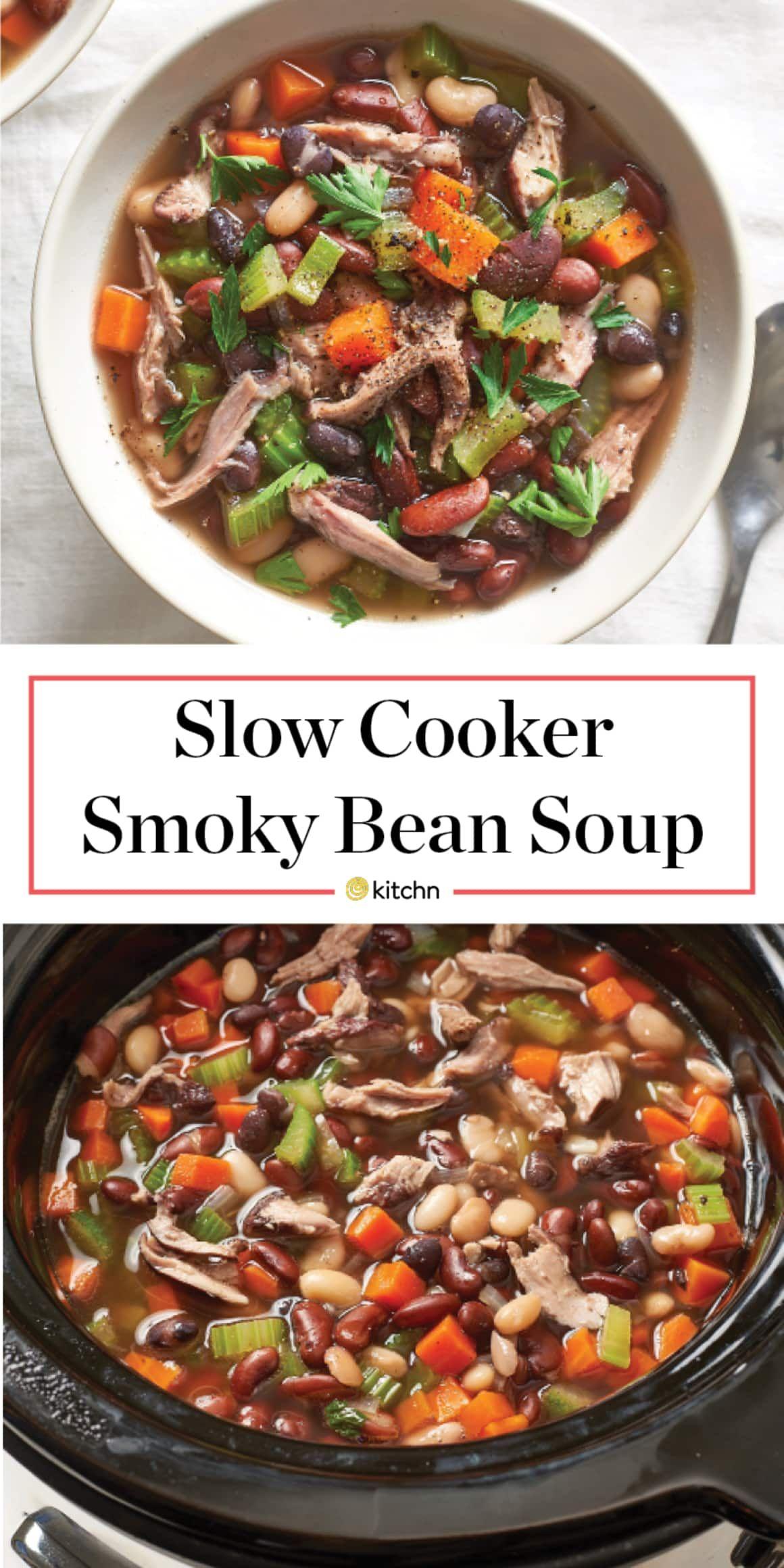 Easy slow cooker bean soup recipe slow cooker bean