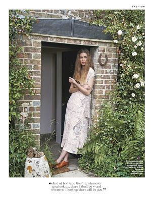 Horse shoe outside door (Smile: Eve Delf in The Stylist Magazine Issue #179 by Perry Ogden)
