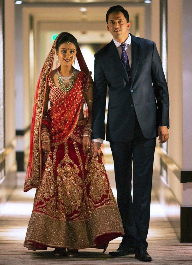 c1e8b6e1df Diva Look Red Heavy Velvet Bridal Lehenga Choli with Golden Embroidery at  Zikimo 1