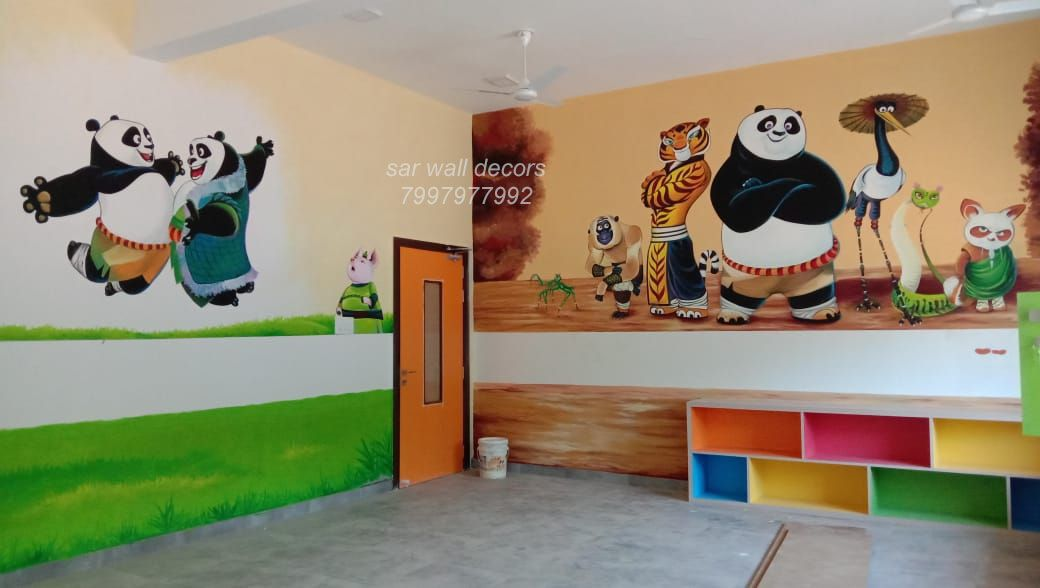 Play School Themes Wall Designs Classroom Walls Paint Wall Painting 3d Wall Painting