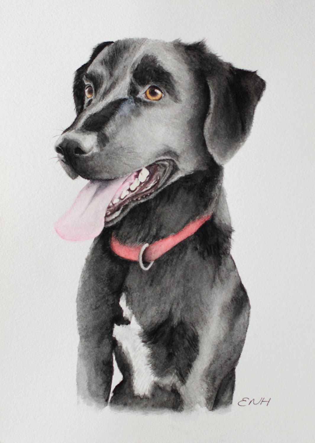 Pet Portrait Custom Commission A Pet Painting Dog Watercolour