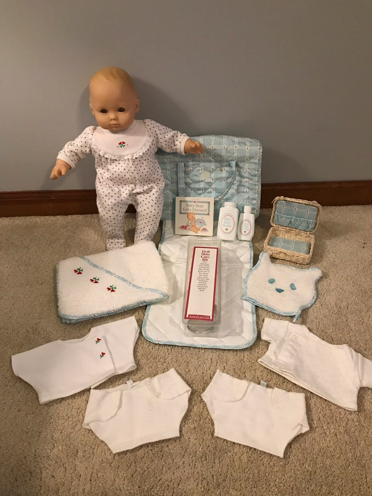 Excellent Condition 1995 Original Bitty Baby With Blonde Lashes By Pleasant Company Doll Is Virtually American Girl Baby Doll Bitty Baby Baby Doll Diaper Bag