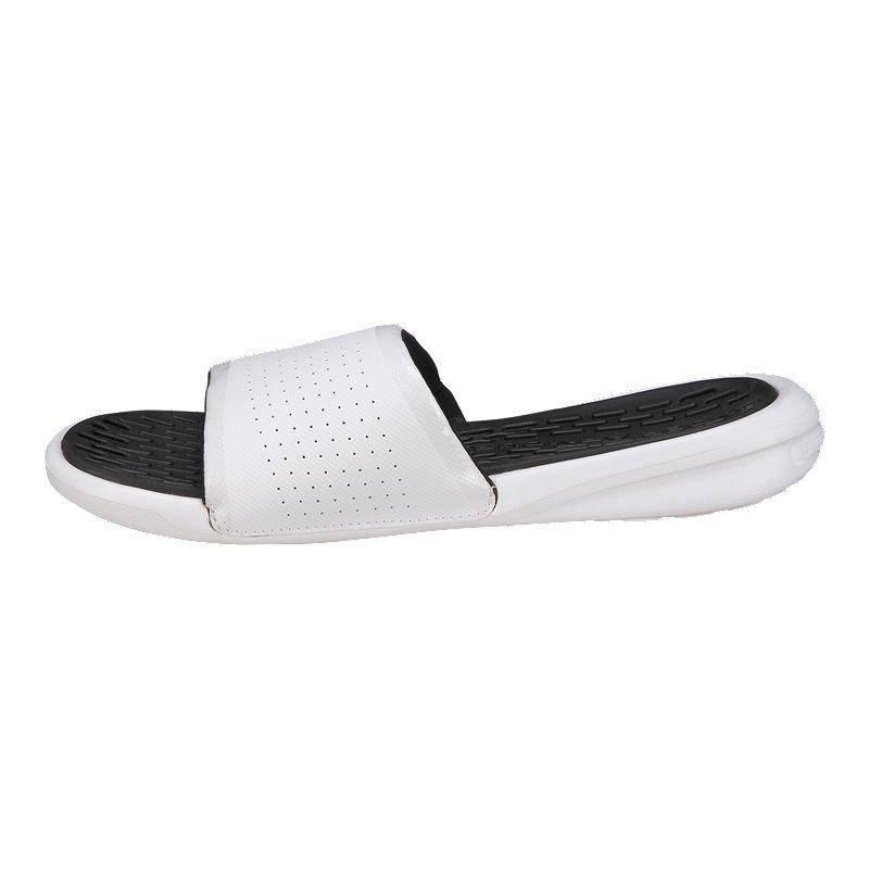 8e177230b1a16c Under Armour Men's Playmaker Fix SL Sandals - White/Black   Products ...