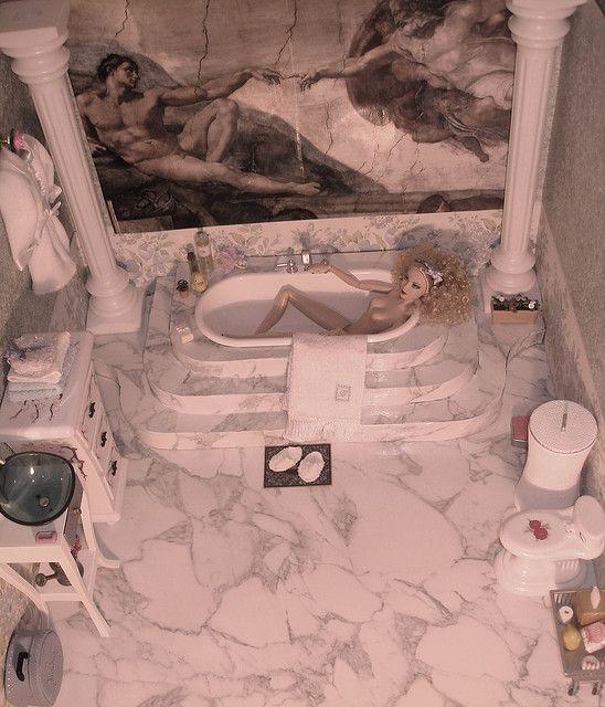 Barbie bathroom.