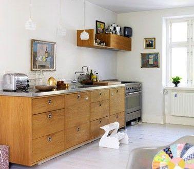 Deco Cuisine Scandinave Meubles En Chene Peinture Et Parquet Blanc Meuble Chene Mobilier De Salon Et Decoration Cuisine Moderne