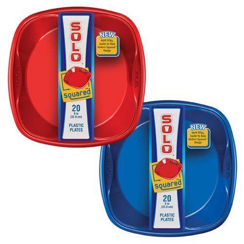 Solo 9  x 9  Solo Squared Plates (Red u0026 Blue) 20  sc 1 st  Pinterest & Solo 9