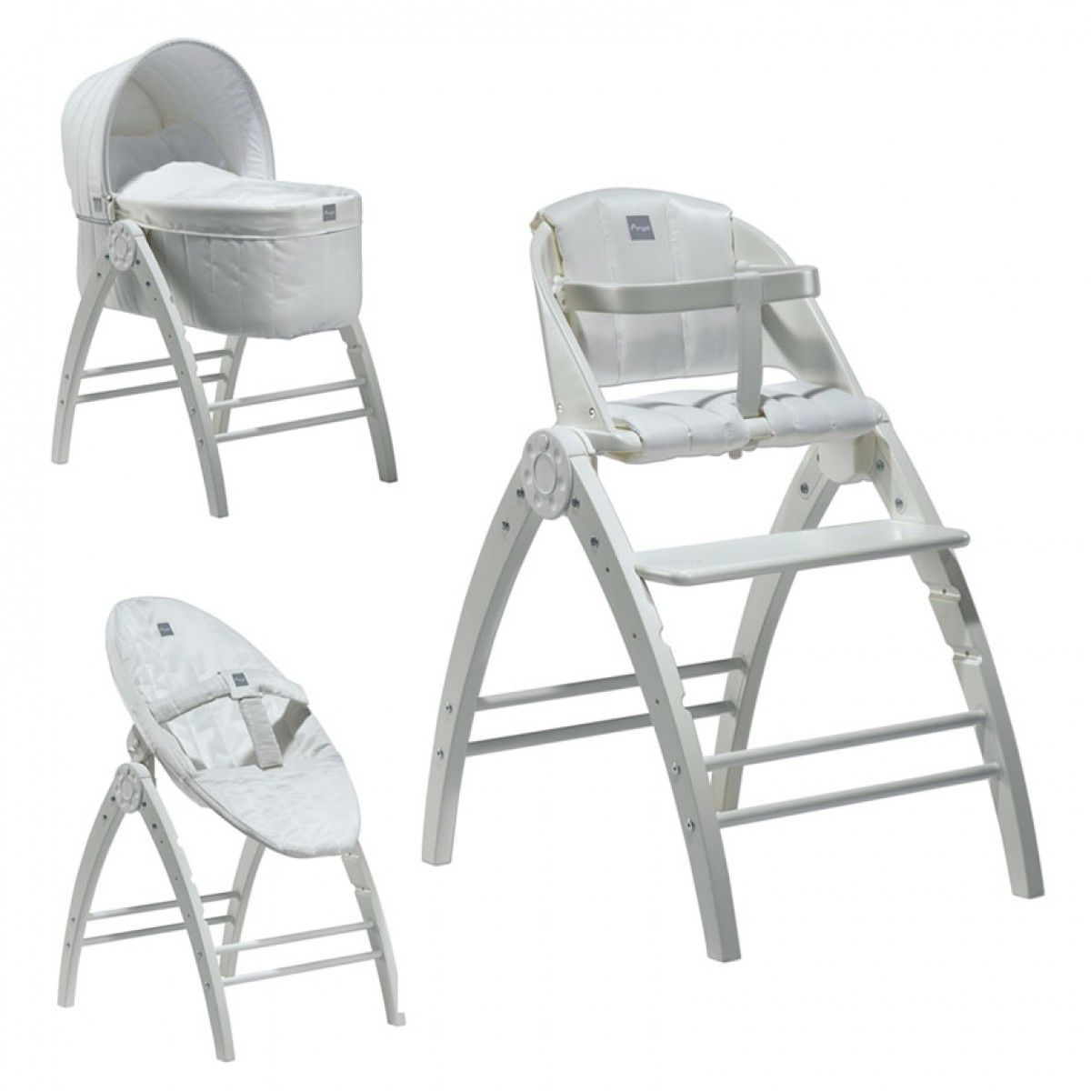 The Babydan Angel 3 In 1 Crib High Chair Recliner Is An Innovative Concept From Uniting Functions Of A Highchair And One