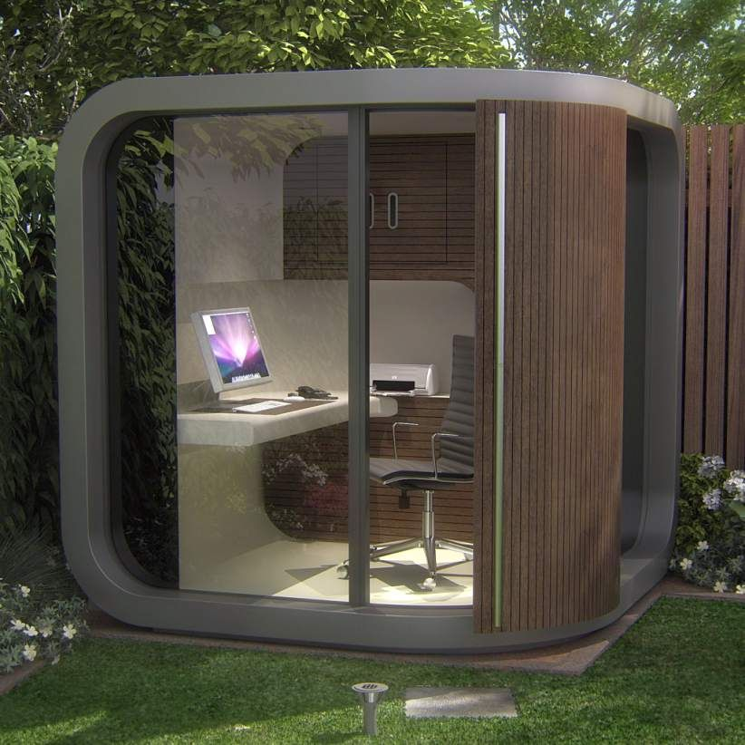 Unique Home Office In The Garden Behind The House With A
