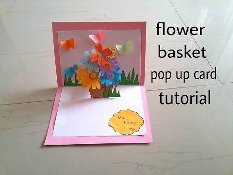 3d Flower Card Diy Pop Up Cards For Kids Pop Up Box