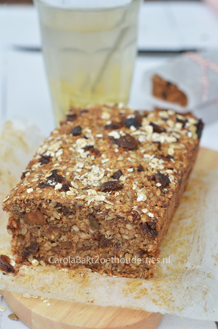 Fruity bread een recept van Rens Kroes Gezonde snoepjes