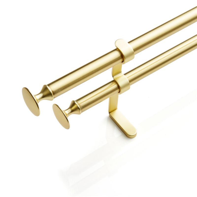 Double 28 48 Gold Curtain Rod Double Rod Curtains Gold Curtain