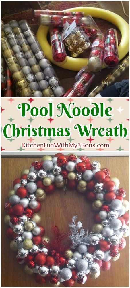 pool noodle christmas wreath we love this fun christmas craft for a diy wreath for
