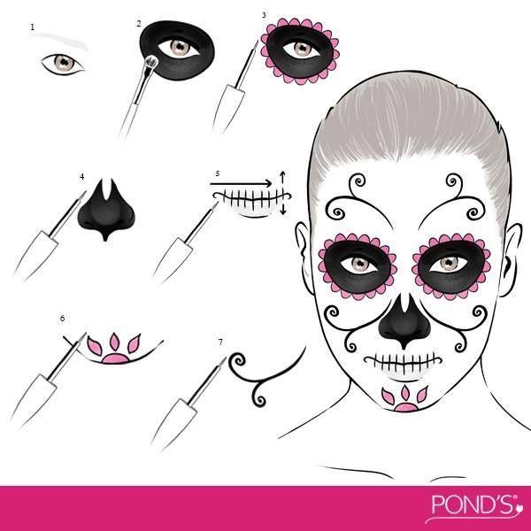 600 600 pixels halloween pinterest maquillaje y belleza - Maquillage dia de los muertos ...