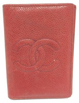 2e830f029088ce Chanel Chanel #4309 CC Red Caviar leather Business card coin card holder  pouch pass case