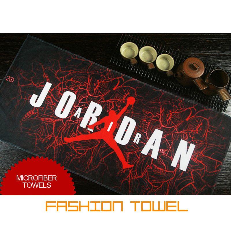 Jordan Basketball Sports Towel Microfiber Fabric Quick Drying 70x140cm Brand Bath Outdoor Fitness