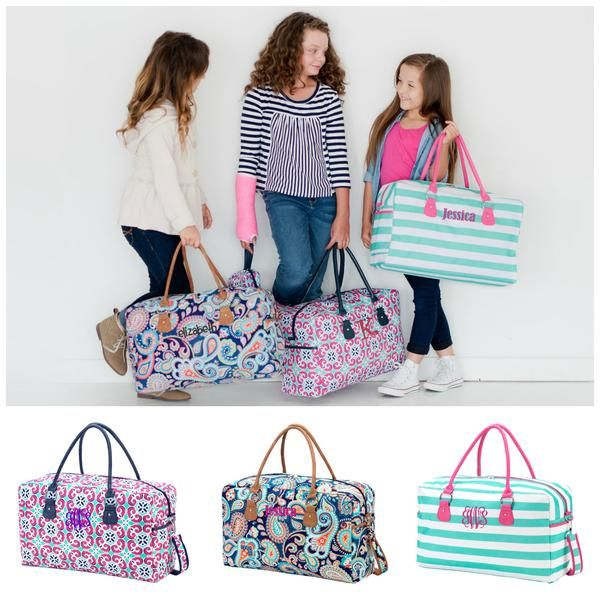 Monogrammed Kids Duffle Bag Girls Travel