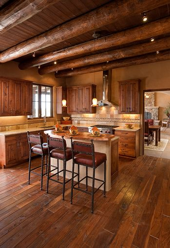 Traditional Adobe Southwest Style Santa Fe Home Builders Tierra Concepts  Kitchens