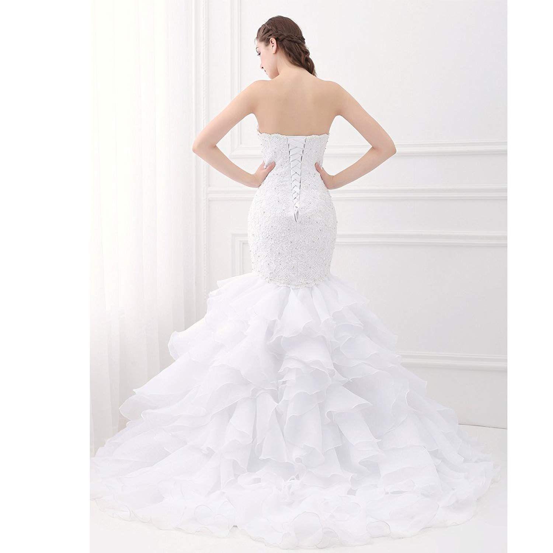 Beauty Bridal Sweetheart Mermaid Bridal Gown Plus Size