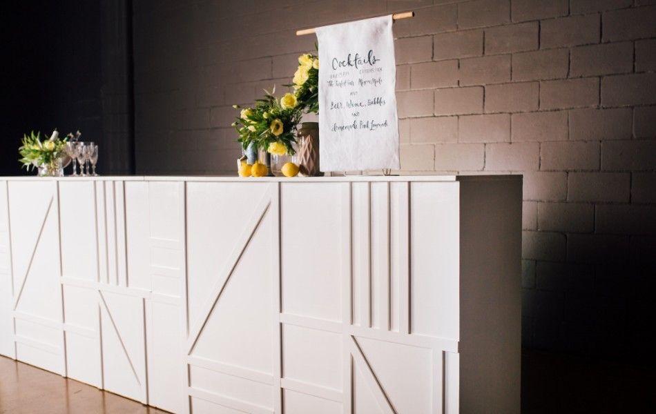 Gathering Events WHITE GEOMETRIC BAR Brisbane's