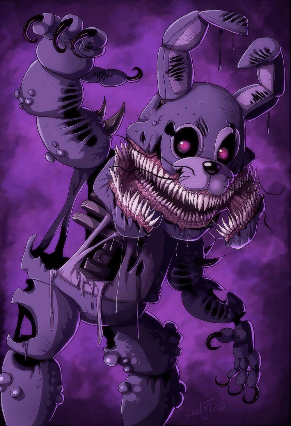 Twisted Bonnie Five Nights At Freddy S Fnaf Wallpapers Fnaf Drawings Five Nights At Freddy S